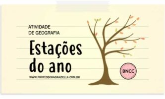 GEOGRAFIA - estacoes do ano