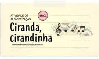 ALFABETIZACAO - ciranda, cirandinha