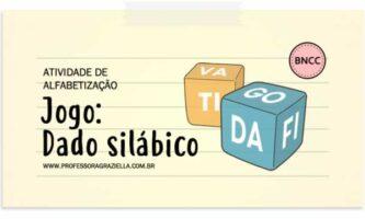 ALFABETIZACAO - jogo - dado silabico