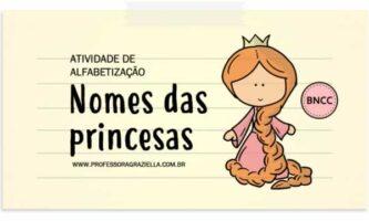 ALFABETIZACAO - nomes das princesas