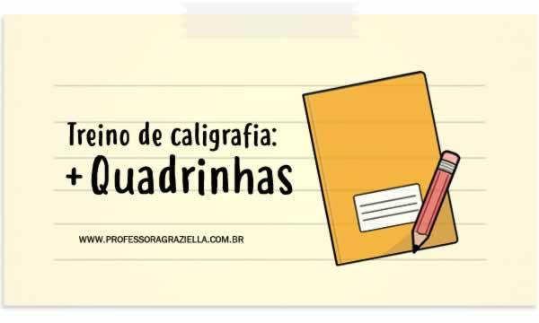 CALIGRAFIA - mais quadrinhas