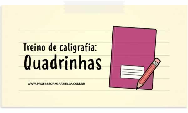 CALIGRAFIA - quadrinhas