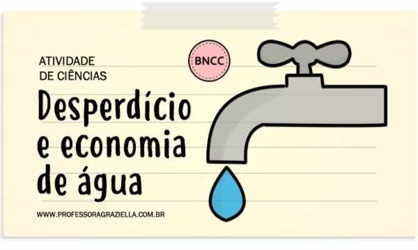 CIENCIAS - desperdicio e economia de agua
