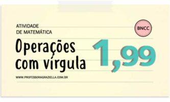 MATEMATICA - operacoes com virgula