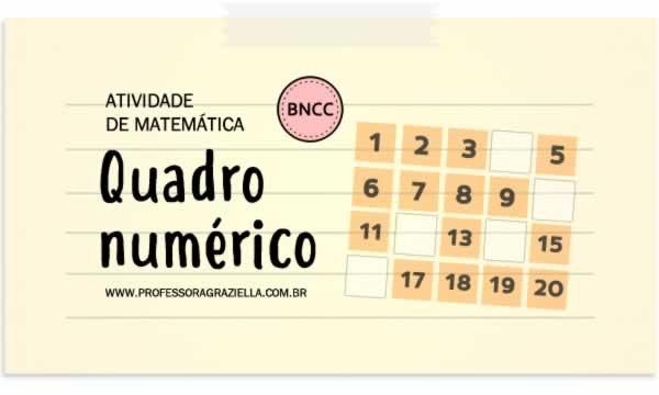 MATEMATICA - quadro numerico