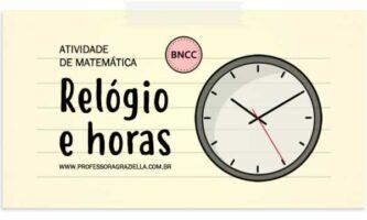 MATEMATICA - relogio e horas
