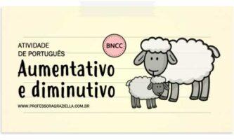 PORTUGUES - aumentativo e diminutivo
