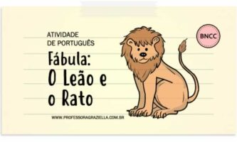 PORTUGUES - fabula-leao e o rato