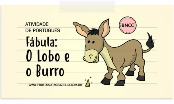 PORTUGUES - fabula-lobo e o burro