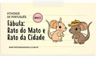 PORTUGUES - fabula-rato da cidade e rato do mato
