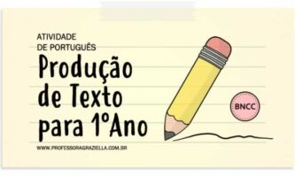 PORTUGUES - producao de texto - 1oano