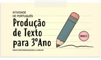 PORTUGUES - producao de texto - 3oano