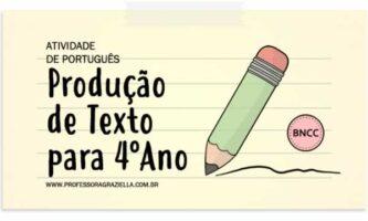 PORTUGUES - producao de texto - 4oano