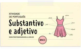 PORTUGUES - substantivo e adjetivo