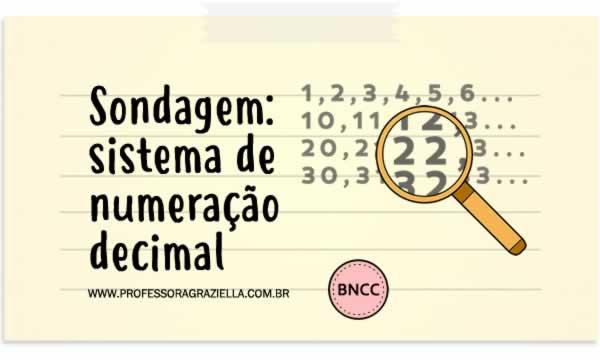 SONDAGEM - sistema de numeracao decimal