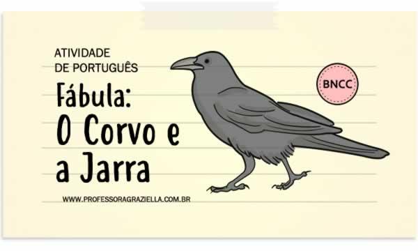 fábula - o corvo e a jarra